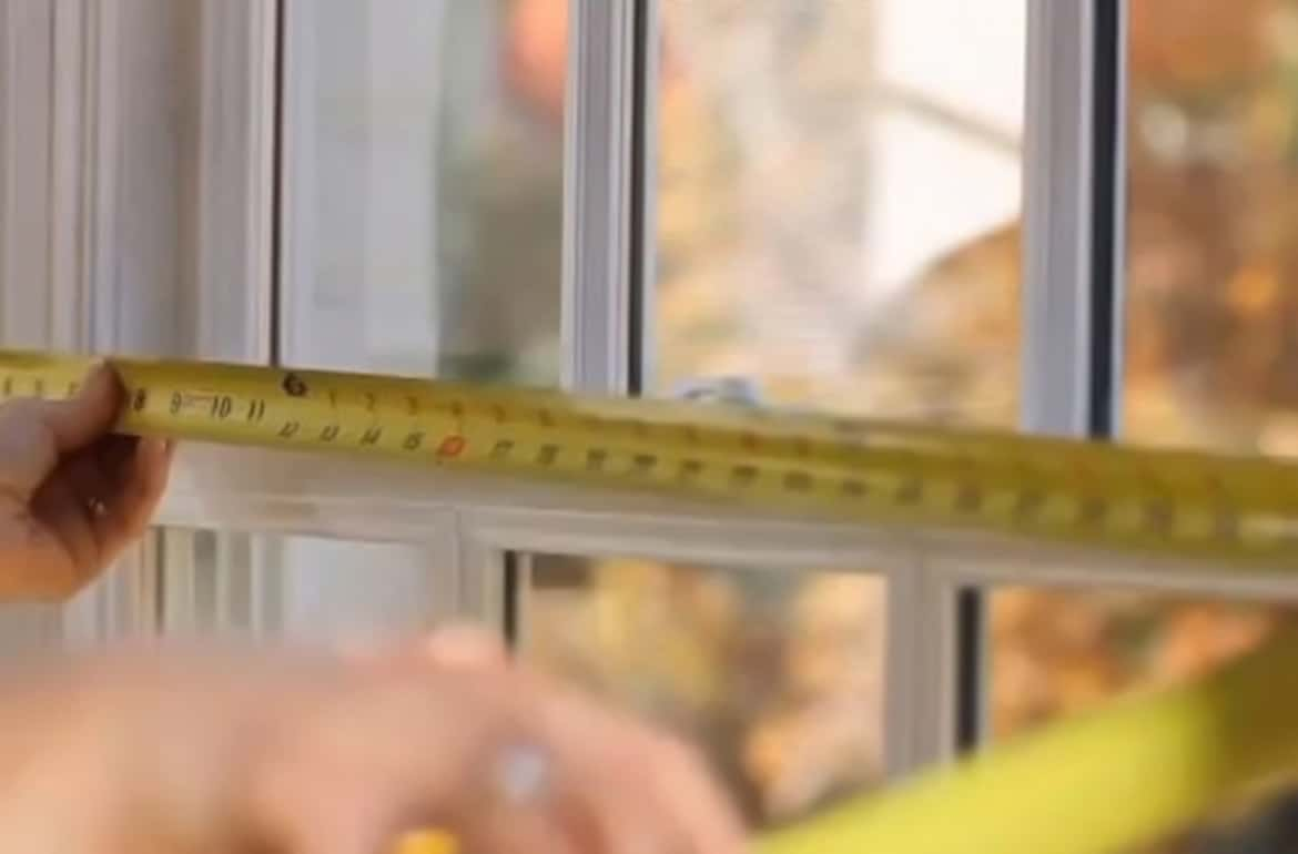 Measuring window opening