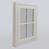 flush casement wooden window