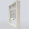 wooden sash window